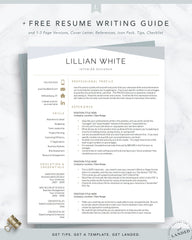 Interior Designer Resume Template, Design Resume cv