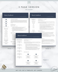 Finance Resume Template for Word and Pages | The Stafford