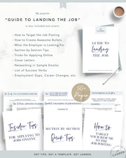 Professional Resume Template for Word and Pages | The Addison