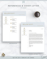 Creative Resume Template for Word and Pages | The Willow