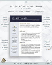 Project Manager Resume Template for Word and Pages | The Kennedy