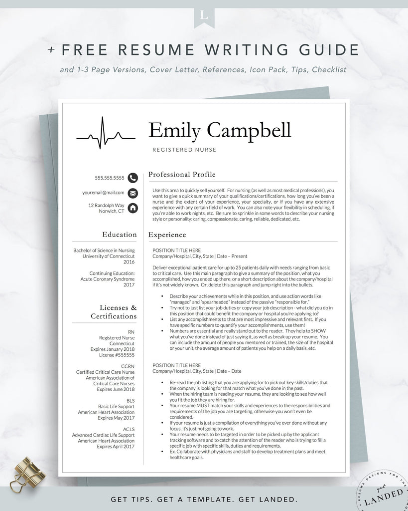 Physician Assistant Resume Template, PA Resume