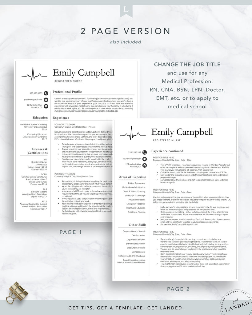 LPN Resume Template, RN Resume, Nurse Resume