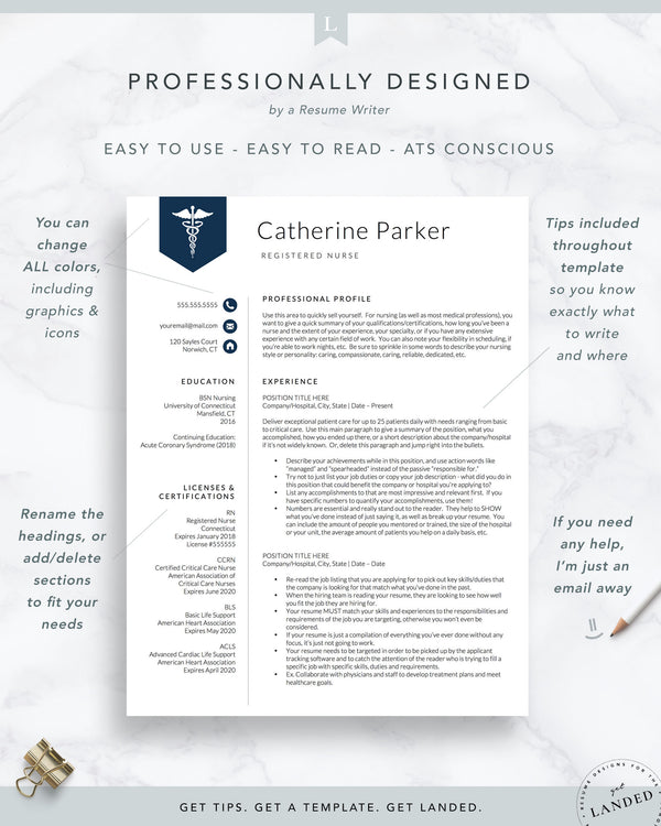 Doctor, Nursing Resume Template | The Catherine