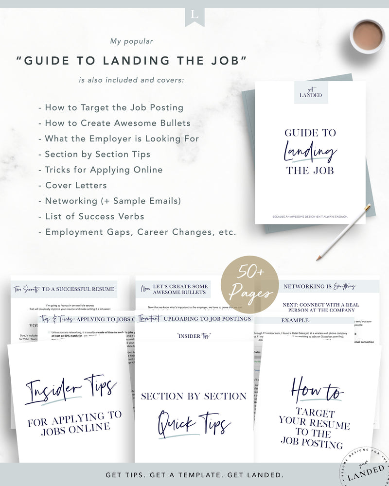 "Nurse Resume Template, Nursing Resume Template / ""The Laura"""