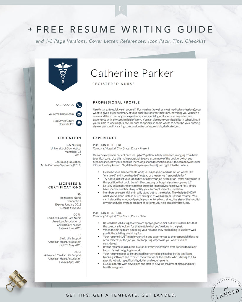 LPN Resume Template, Licensed Practical Nurse, PA Resume, Nurse Resume