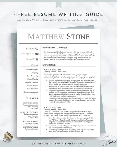 Professional Conservative Resume Template