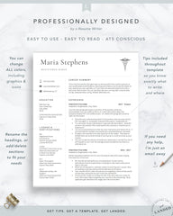 Physician Assistant Resume Template, Nursing Resume Template | The Maria