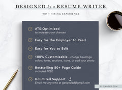 Get Landed Resume Template Features