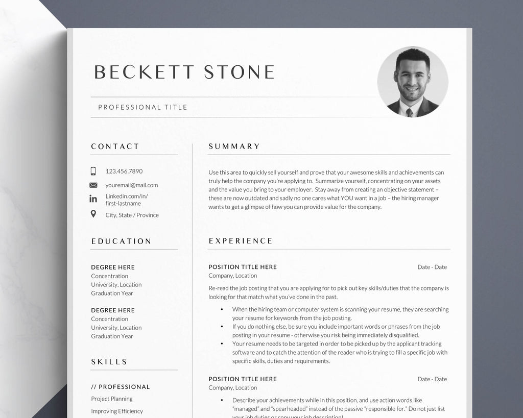 curriculum vitae for grad school, resume template with photo picture