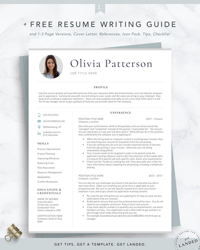 Modern Resume template with photo