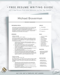 Modern Resume Design for Word and Pages | The Braverman