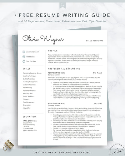 Retail Resume Template, Sales Resume