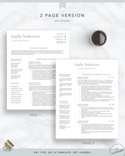 Teacher Resume Template, School Administrator CV Template | The Layla