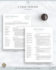 Teacher Resume Template, School Administration Resume Template | The Layla