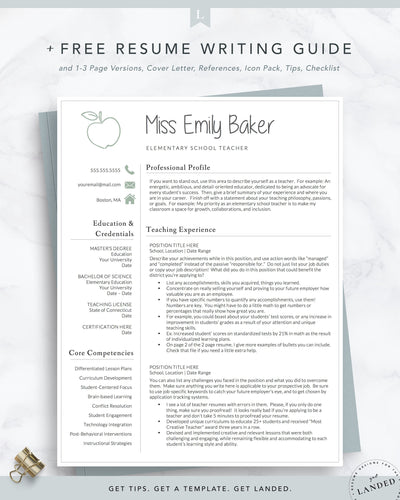 Elementary School Teacher Resume Template, Elementary Education Resume