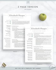 Teacher, Administrator Resume Template | The Harper