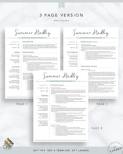 Teacher Resume Template for Word and Pages, Teaching Resume | The Summer