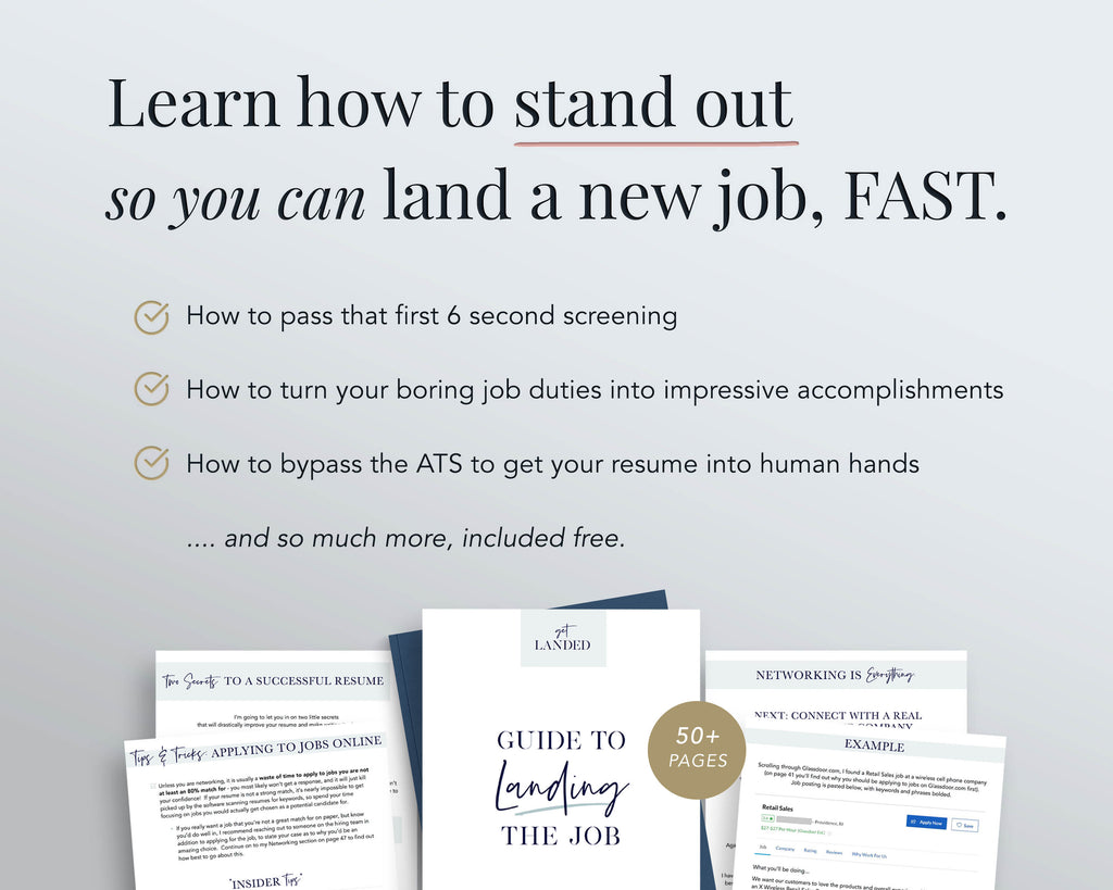 how to land a job interview fast