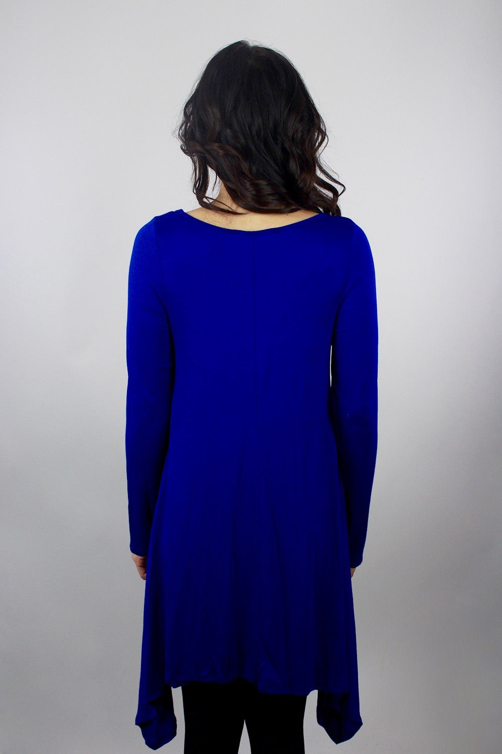 Long Dark Blue Top