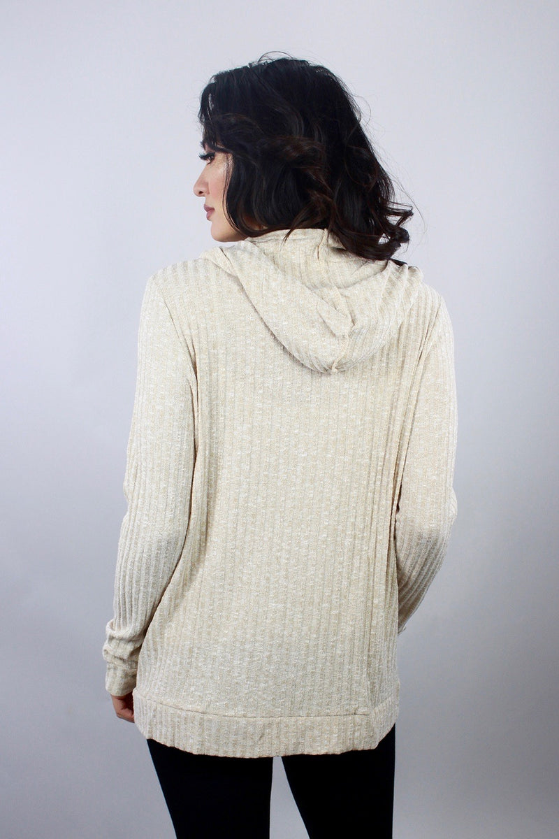 Tan strip sweater