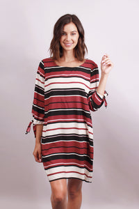 Striped multi color shift dress