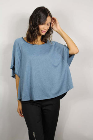 women's short sleeve dolman top