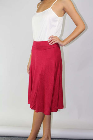 A-line knee length skirt