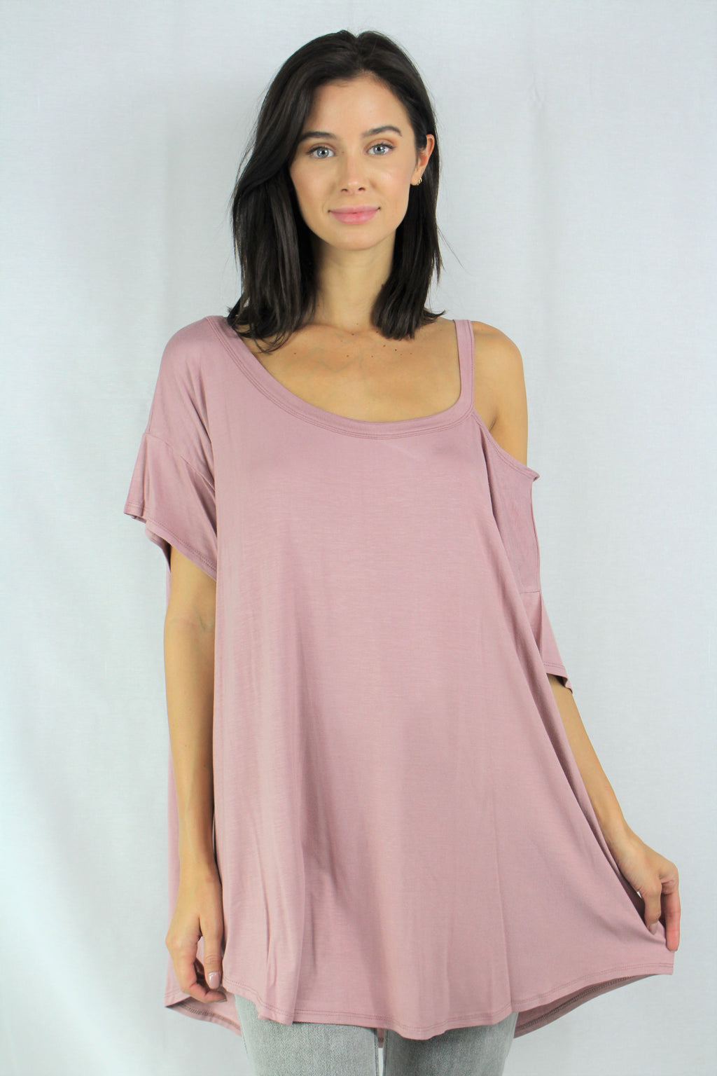cold shoulder relaxed top