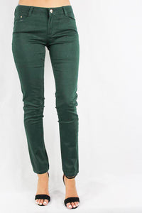 hunter green skinny jeans