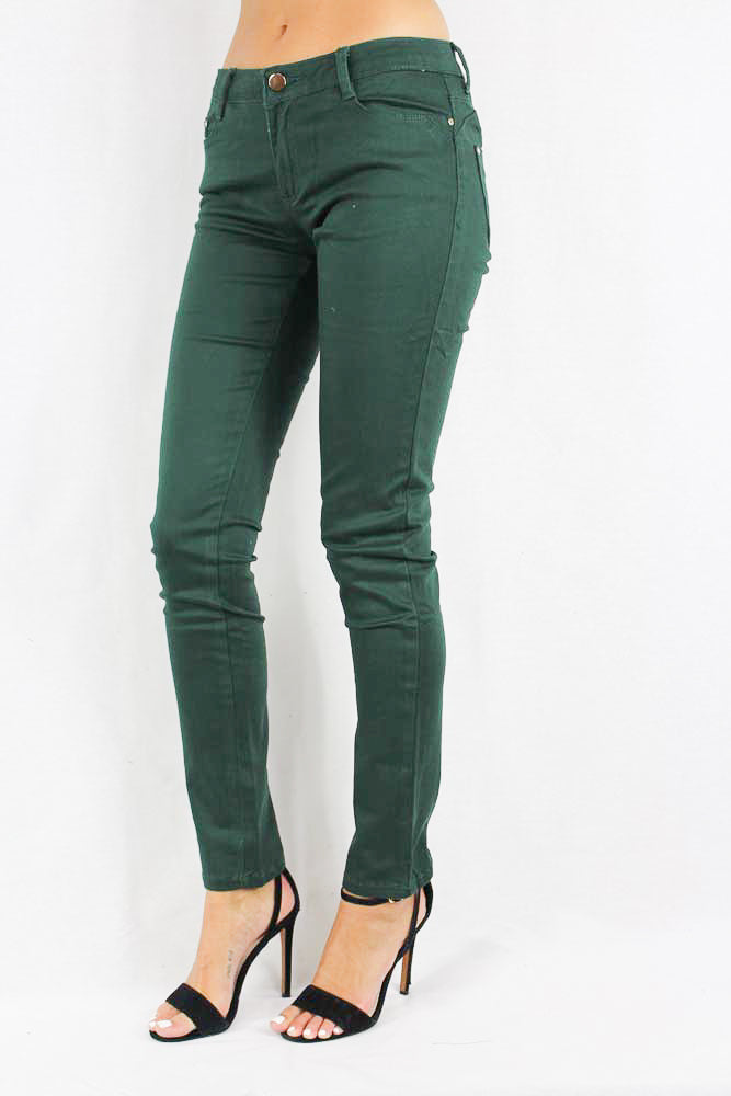 Women's Hunter green skinny jeans