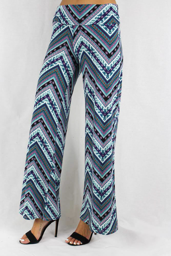 Women's Multi Print Chevron Pants