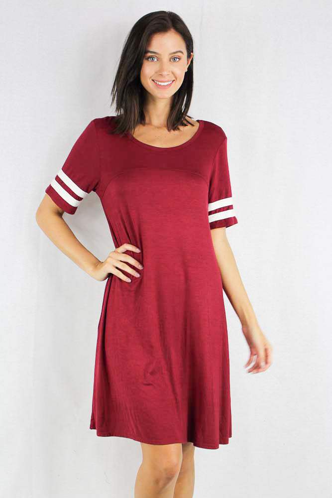 Women's Casual Football Sleeve Dress