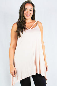plus size sleeveless tunic top