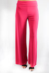 high waist relaxed fit wide leg pant