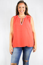 plus size sleeveless chiffon blouse
