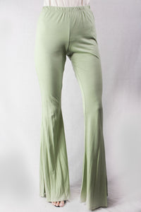 high waist flair pant
