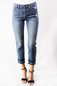lightly distressed relaxed fit jean