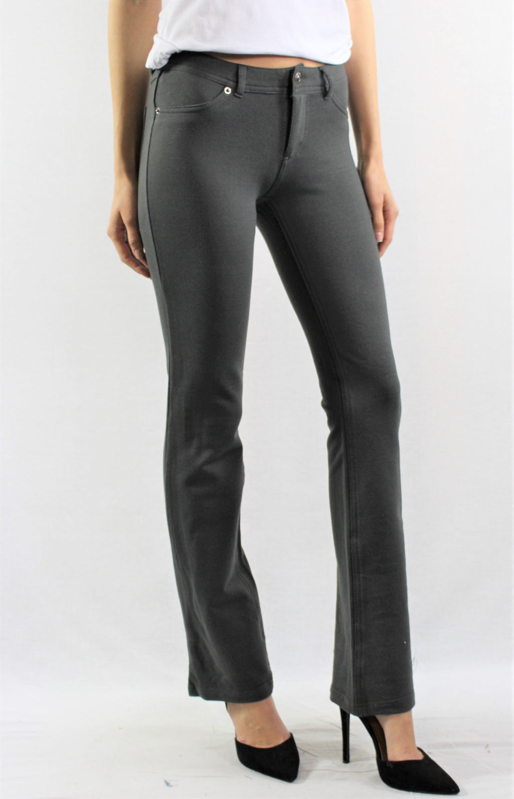 Dark Olive Stretch Trousers for Women