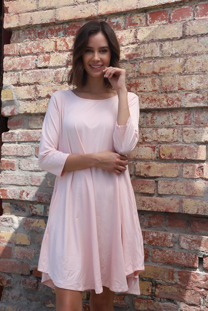 Dusty Pink Tunic Sleeve Top