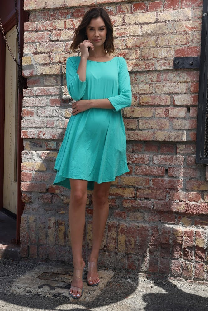 Sea Green Tunic sleeve top
