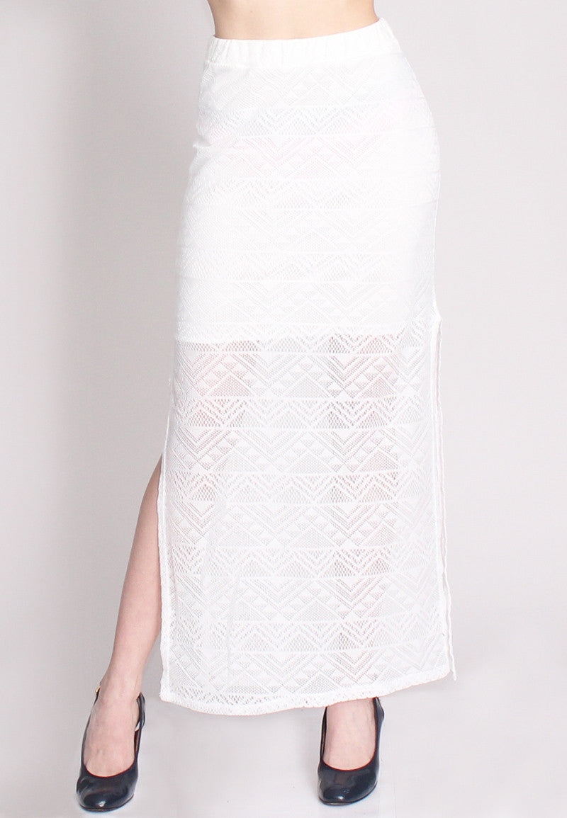 white crochet maxi skirt stuff apparel