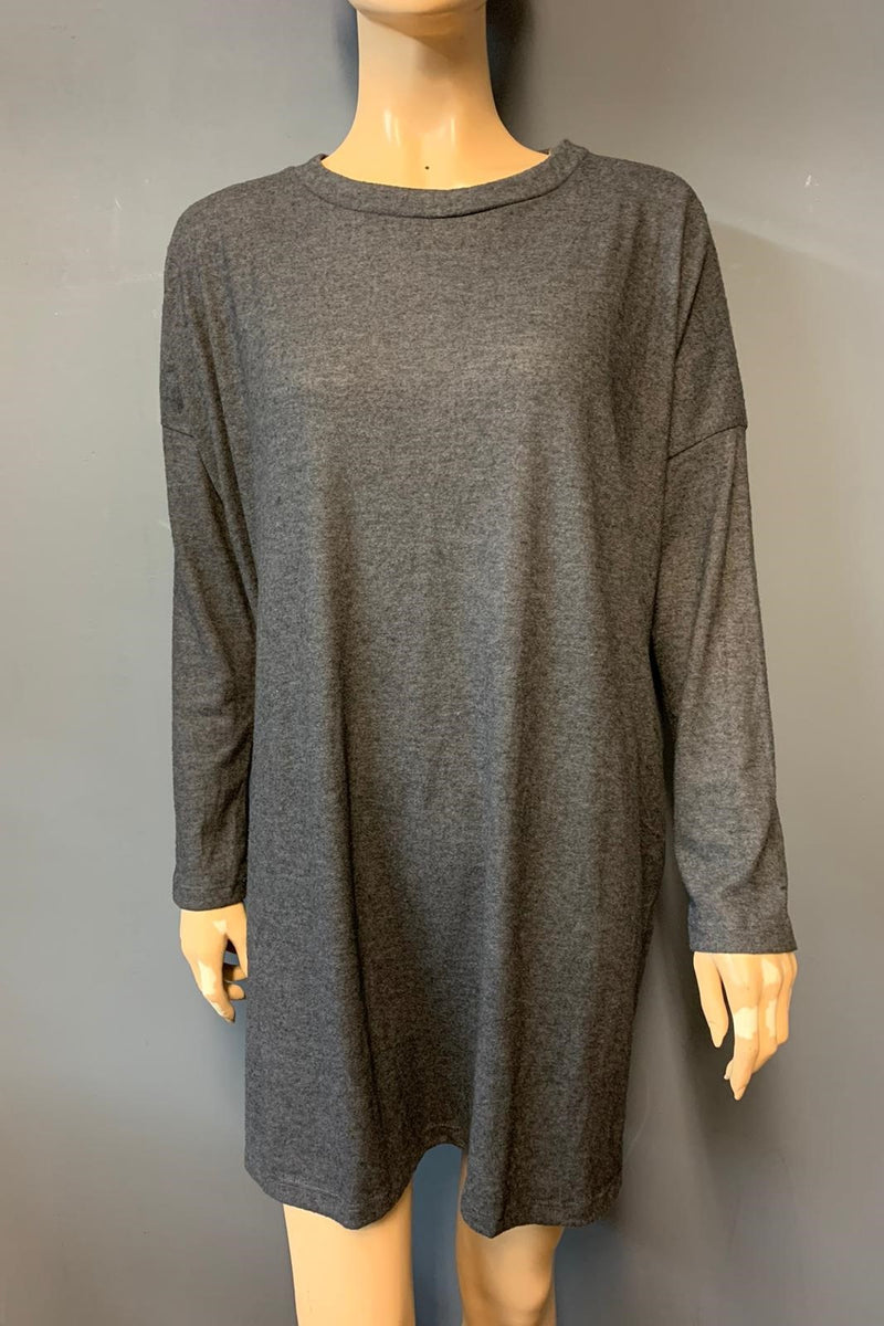 Women's Long Sleeve Light Weight Knit Dress