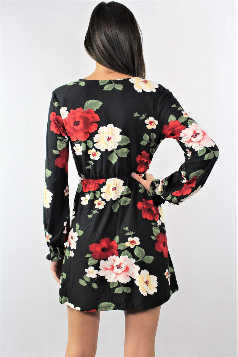 Long Sleeve Floral Dress***