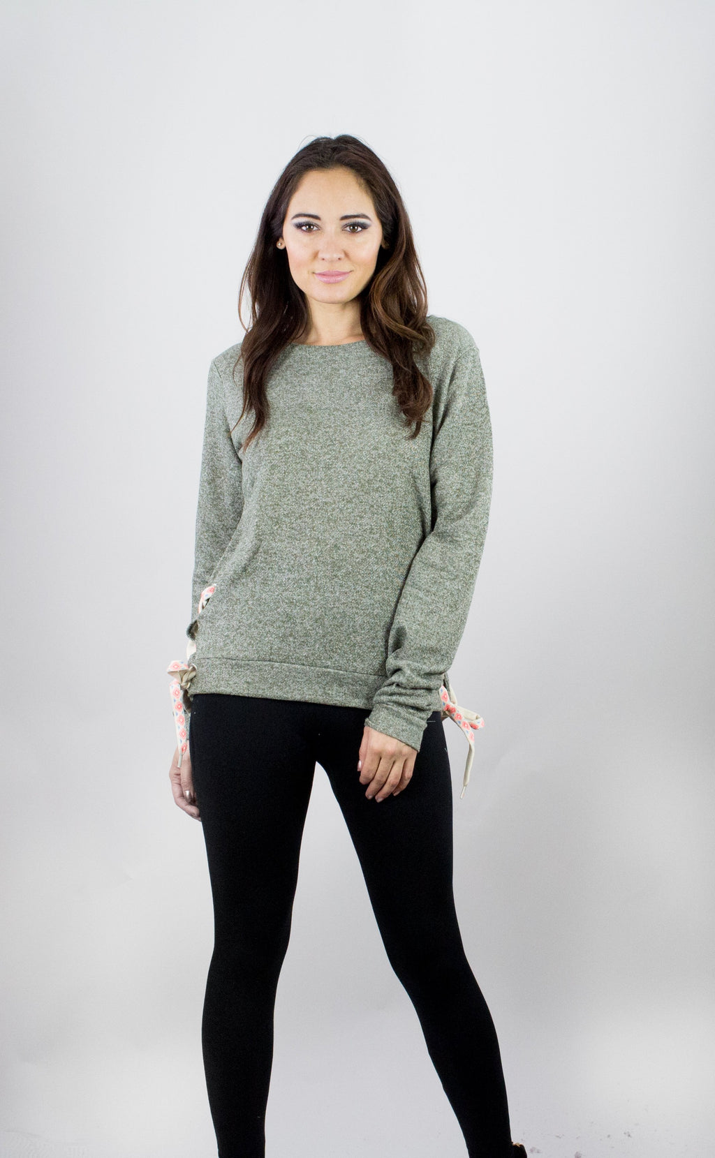 Pullover Lace-up Love Sweatshirt