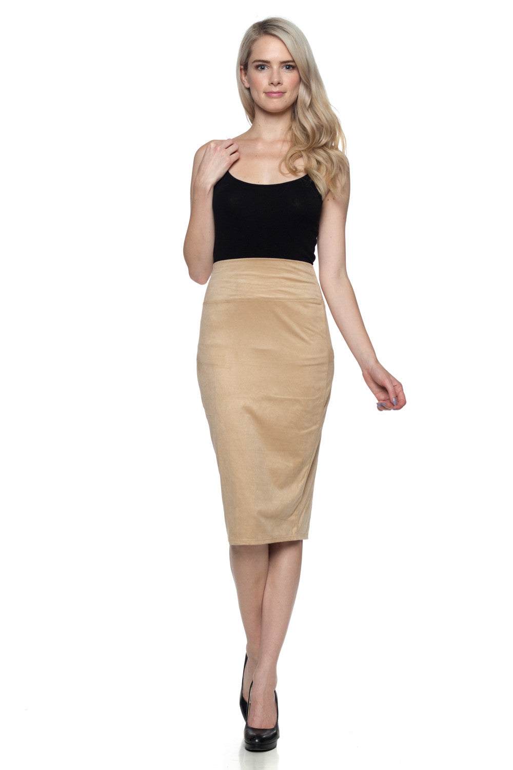 Women's Suede Pencil Skirt