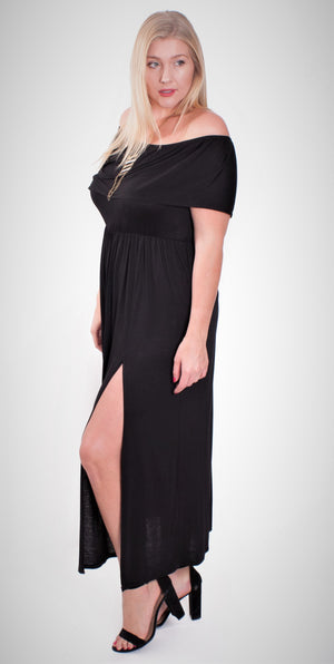 Plus Size Off Shoulder Maxi Dress – Good Stuff Apparel