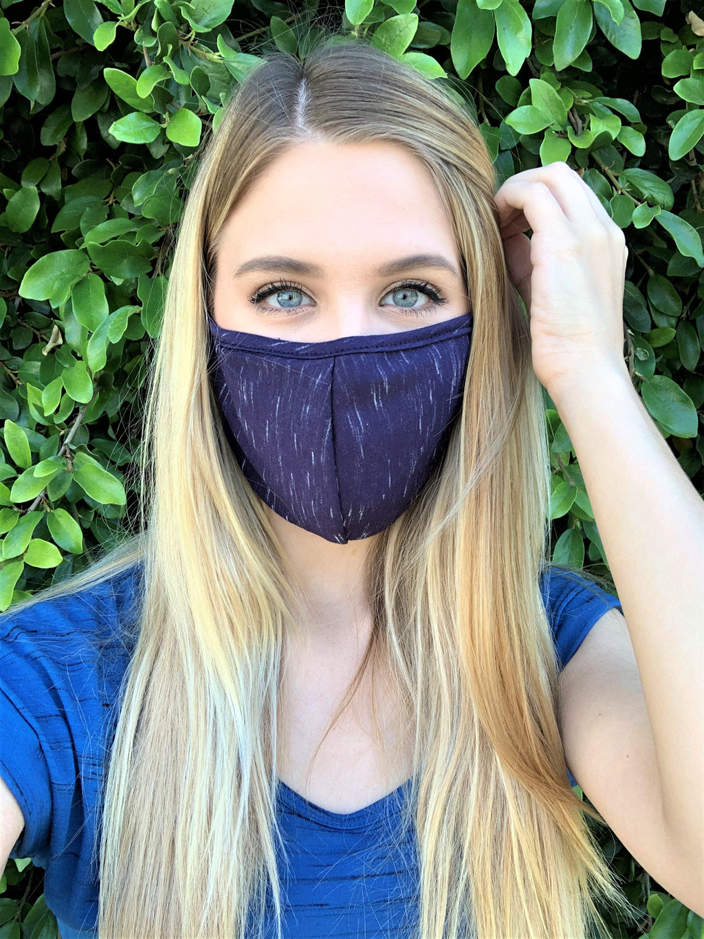 Blue Print Comfortable Double Layer Face Mask
