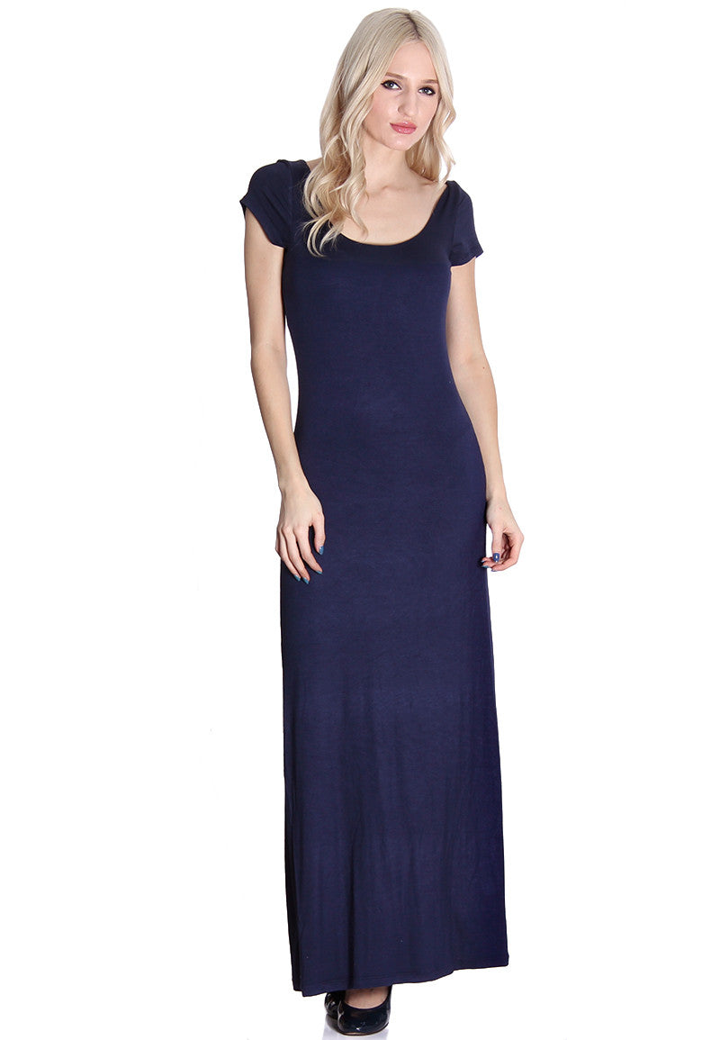 Navy Soft Maxi Dress