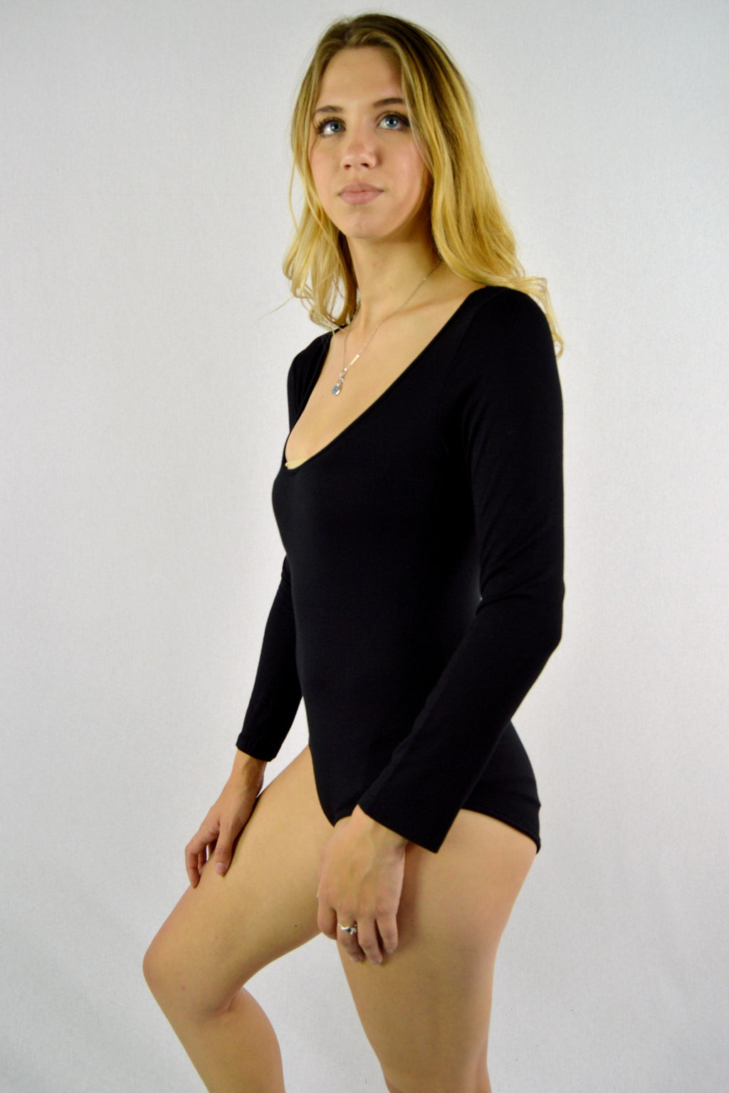 Women's Scoop Neck Long Sleeve Bodysuit